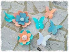 Farfalle & fiori in gomma Eva effetto 3D - YouTube
