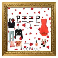 """""""Peep toe contest"""" by pinkrosa014 ❤ liked on Polyvore featuring Dsquared2, Moschino and Piggy Polish"""