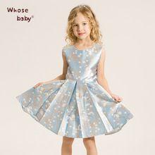 Niños de Impresión Chaleco de la Flor Princesa Vestidos De Partido de Las…