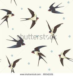 Swallows in flight...design options.