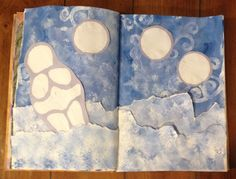 """February altered book pages  Feeling a little bit like a """"Snow Venus of RVA"""" on this snow day. Emilia LeBlanc's Book"""