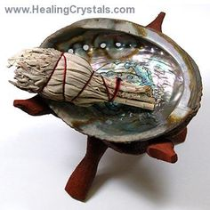 These Abalone Shells are a great water element that can be used in the practice of Feng Shui or if you prefer, used as a Smudging bowl to bu...