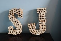 Crafty Creations: Celebratory Corks :  wedding decor diy seattle Letters letters