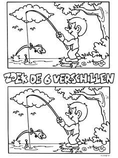 Kleurplaat Zoek de 6 verschillen - Kleurplaten.nl