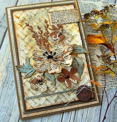 Kath's Blog......diary of the everyday life of a crafter: Tim Holtz/Sizzix Chapter 1 - Brushstroke Flowers 2 Tim Holtz Blog, Tim Holtz Dies, 3d Texture, Distressed Painting, Watercolor Cards, Distress Ink, Cool Cards, Flower Cards, Brush Strokes