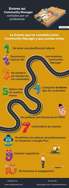 10 errores del community manager #infografia