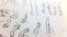 인체 중 손과 팔 드로잉 연습