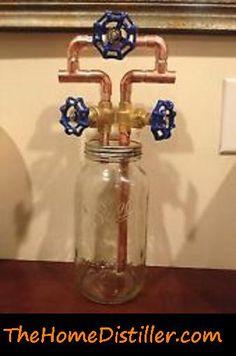 """Mason jar """"thumper"""" for use on moonshine still"""