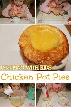 Pies are one food that most family members will actually eat! Even better if the children cook them themselves!!