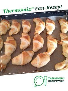 Schinken- Käse Hörnchen aus Quark- Öl- Teig von LeaE. Ein Thermomix ® Rezept aus der Kategorie Backen herzhaft auf www.rezeptwelt.de, der Thermomix ® Community.