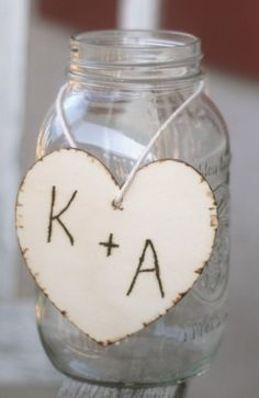 SET OF 12 Wedding Centerpiece Charms Wood Hearts by braggingbags, $75.00