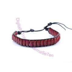 One Row Wrap Bracelet - Drop Dear Red
