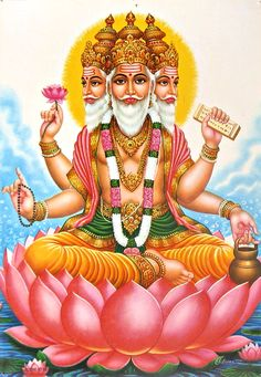 Lord Brahma - The Creator  Top 10 Most Powerful Hindu Gods/Lords