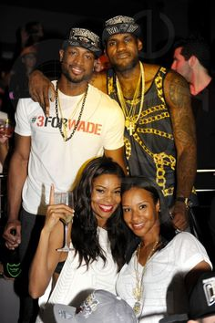 Dwyane Wade, Gabrielle Union, Savannah Brinson, & LeBron James