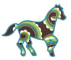 horse head applique pattern | embroidery and applique designs: March 2010