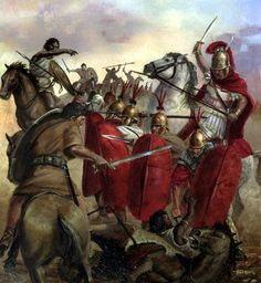 Charge of the Numidian cavalry, Punic War
