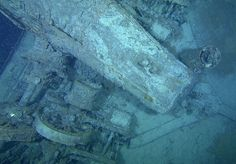 Titanic Underwater Bodies | New Titanic picture—showing mast—released around the 25th ...