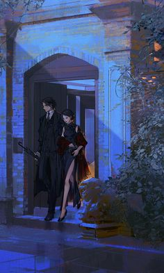 Story Inspiration - Couple leaving a theatre. Anime Couples Manga, Cute Anime Couples, Aesthetic Anime, Aesthetic Art, Fantasy Kunst, Fantasy Art, Yuumei Art, Art Sketches, Art Drawings