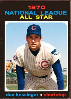 1971 Topps Don Kessinger All-Star, Chicago Cubs, Baseball Cards That Never Were