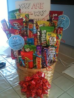 A Candy Bouquet I Made For My Brothers 25th Birthday The Sign Says