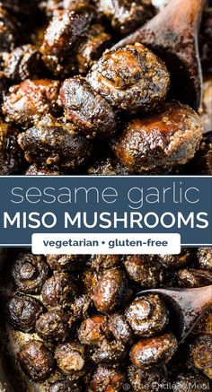 Sesame Garlic Miso Butter Mushrooms SAVE FOR LATER! These Sesame Garlic Miso Butter Mushrooms should really be called The Best Mushroom Recipe Ever. They're insanely delicious and super easy to make. Everyone at your table will LOVE them! Good Healthy Recipes, Gluten Free Recipes, Whole Food Recipes, Vegetarian Recipes, Cooking Recipes, Supper Recipes, Simple Recipes, Diet Recipes, Best Mushroom Recipe