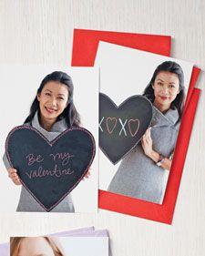 Chalkboard Photo Valentine