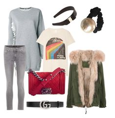 A fashion look from January 2018 featuring frilly dresses, pink shirt and cotton parka. Browse and shop related looks. Mr & Mrs Italy, Msgm, Salvatore Ferragamo, Polyvore Fashion, Gucci, Chanel, Shoe Bag, Clothing, Stuff To Buy