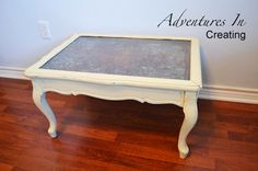 Adventures In Creating: Antique Ceiling Tin Table