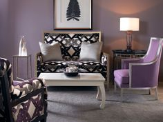 Seasons change, so the color to combine with your grey may differ based on the room, the pieces in it, and the time of year, but purples, blues, tangerine, red, along with many other options can help make a room lively.