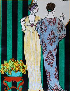 George Barbier (1882-1932) - French Art Deco Fashion Illustrator - 1913