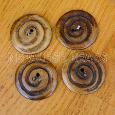 AC922 Nepalese Tibetan Handmade Bone 4 Buttons Tibet Nepal | eBay