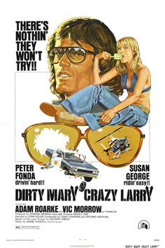 Dirty Mary Crazy Larry is a car chase B movie. It's about a wannabe Nascar driver, Larry, and his mechanic, Deke, who rob a grocery store to fund their racing career. 1970s Movies, Vintage Movies, Movies 2019, Vintage Stuff, Vintage Ads, Vintage Posters, Michael Myers, Good Girl, Quentin Tarantino