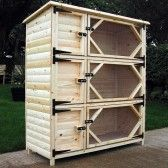 Extra Tall Triple Rabbit Hutch