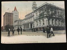 Early 1900s City Hall, New York, NY postcard