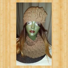 Hat with infinity scarf
