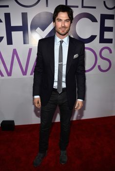 Ian Somerhalder | Fashion At The 2014 People's Choice Awards
