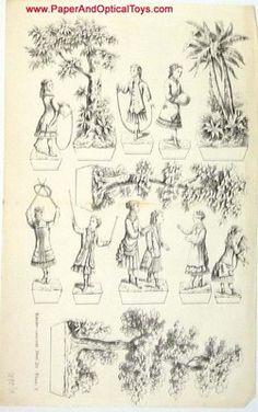 Paper Theatre Figures 1880 Paper Model Original | eBay