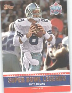 2011 Topps Super Bowl Legends #SBLXXVII Troy Aikman - Dallas Cowboys (Football Cards) by Topps Super Bowl Legends. $1.96. 2011 Topps Super Bowl Legends #SBLXXVII Troy Aikman - Dallas Cowboys (Football Cards)