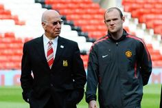 """Sir Bobby Charlton: """"Wayne (Rooney) is really keen to break my record, which have stood for a long time. I've told him not to worry too much. He has my backing. I'll be quite happy when it comes."""" ♥"""