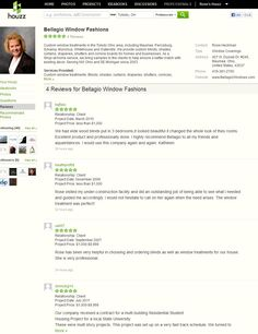 Client reviews on Houzz.com Design Professionals Toledo Ohio for Bellagio Window Fashions