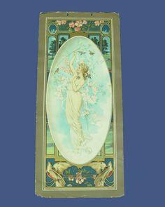1905 Anheuser-Busch Art Calendar Print: Lady w/ Birds Offered by Ruby Lane shop Antique Beak