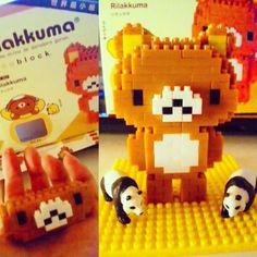 頭はもぎとらないで ね 今は零戦をつくっています  #Japan #toys #hobby #nanoblock #loveit #rilakkuma #cute #fun #リラックマ #ナノブロック