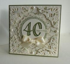 40th by sistersandie - Cards and Paper Crafts at Splitcoaststampers