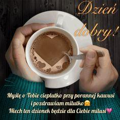 Kartka pod tytułem ☕...przy porannej kawie ... Tableware, Coffee, Kaffee, Dinnerware, Tablewares, Cup Of Coffee, Dishes, Place Settings