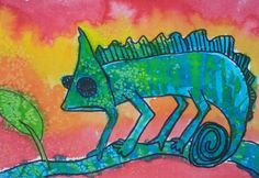 color, warm and cool, watercolor paint, chameleon, Dream Painters