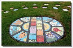fun mosaic human sundial #analemmatic