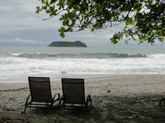 Favorite spot on the beach in Manuel Antonio, CR