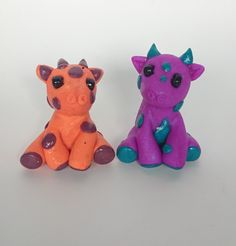 Polymer Clay Giraffes Twisted & Troublesome Friends March 2015