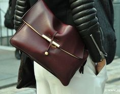 Céline leather jacket & bag #style #fashion #streetstyle