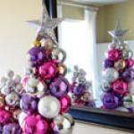 So cute....such an easy decor and I have soooo many extra ornaments.